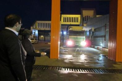 ضدعفونی کامیونهای ورودی از جمهوری آذربایجان به کشور