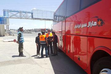 اجرای طرح کنترل و نظارت ناوگان مسافری در محورهای مواصلاتی استان سمنان
