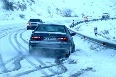 بارش برف برخی مناطق خراسان شمالی را در برگرفته است