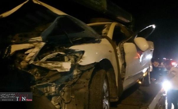 برخورد مرگبار تویوتا با گاردریل در مازندران