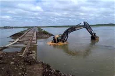 پایان لایروبی ۴۰ هزار مترمکعب دهانه گرگانرود