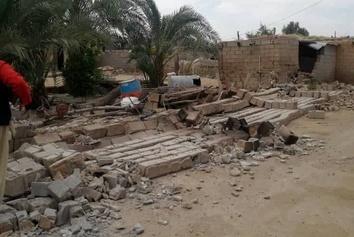 عکس  تصاویری از خسارت زلزله در برخی روستاهای گناوه