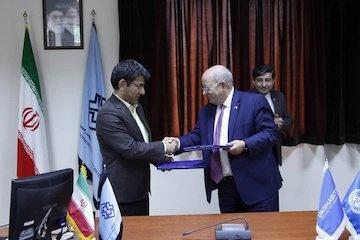 امضای تفاهمنامه همکاری مرکز تحقیقات راه و مسکن با برنامه اسکان بشر ملل متحد