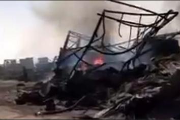 فیلم| عمق فاجعه در گمرک اسلام قلعه پس از آتشسوزی