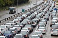 ترافیک نیمه سنگین در آزاد راه کرج-تهران
