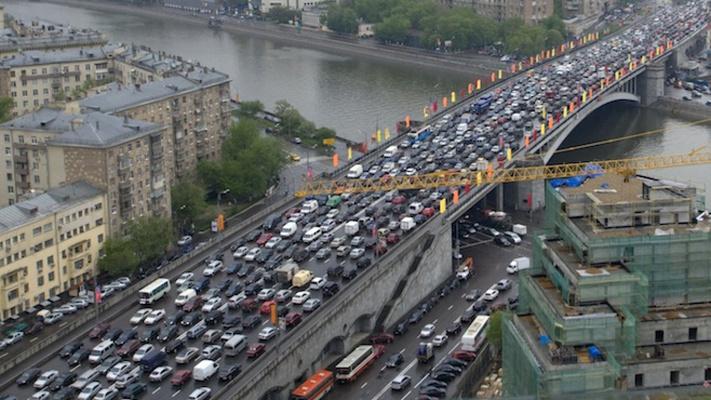 سه روز ترافیک در سرمای مسكو