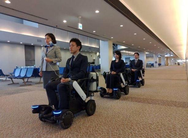 ویلچرهای خودران در فرودگاه ژاپن