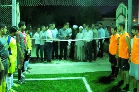 افتتاح زمین چمن مصنوعی فوتبال فرودگاه بینالمللی بندرعباس