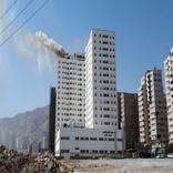 آتشسوزی برج 21 طبقه در شهرک راهآهن