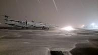 بارش برف و عملیات زمستانی در فرودگاه بینالمللی مهرآباد تهران