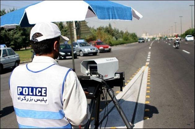 ارسال پیامک پلیس به ۲۷۰۰ راننده پر سرعت