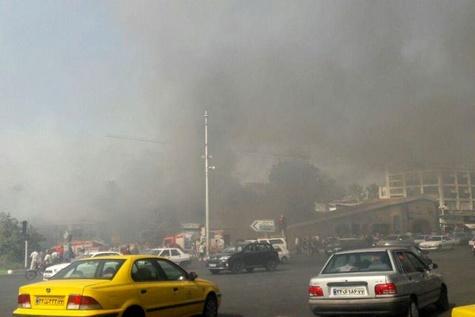 آتش سوزی گسترده در تجریش