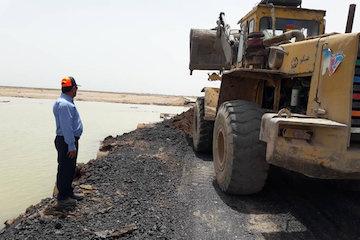 احداث جاده دسترسی به روستای عطیش