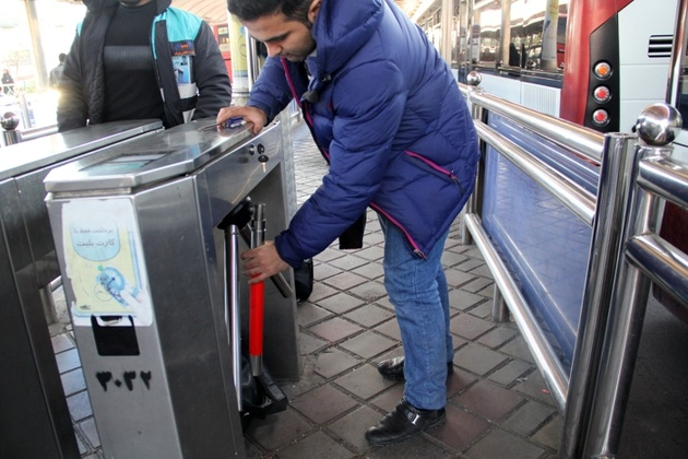تسهیل تردد معلولان و جانبازان در خط یک اتوبوسهای تندرو