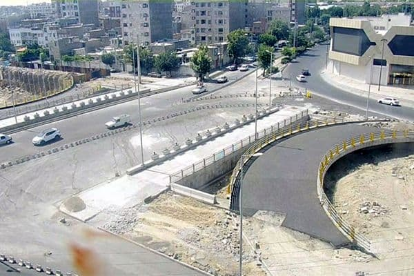 گشایش ترافیکی پل اصلی تقاطع بزرگراه شهید بروجردی با میدان جانبازان