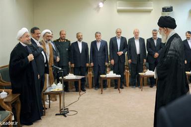 جلسه مهم مقام معظم رهبری با اعضای دولت