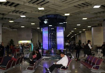 نصب آکواریوم در ترمینال دو فرودگاه مهرآباد