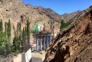 فیلم انفجارهای تونل قطعه ۲ آزادراه تهران-شمال