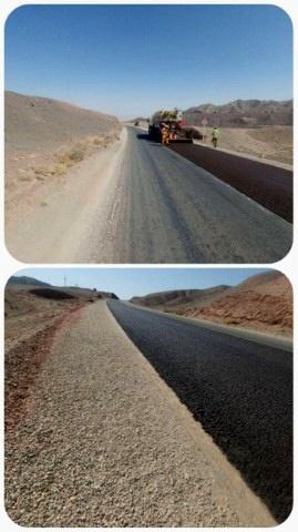 پروژه بهسازی محور حاجیآباد زرین تحویل موقت شد