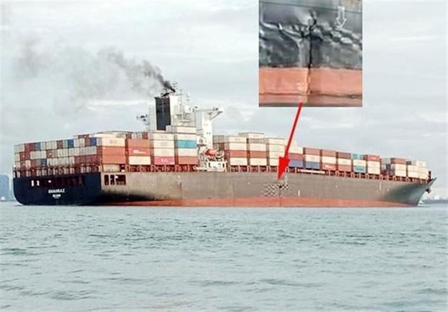 تازه ترین تصاویر از حادثهای که برای کشتی شهراز رخ داد