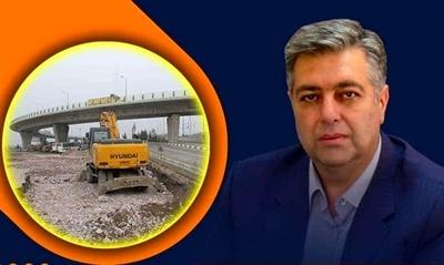 آغاز عملیات احداث پل تقاطع غیر همسطح ابوذر