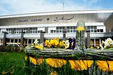 نخستین پرواز شبانه فرودگاه اردبیل