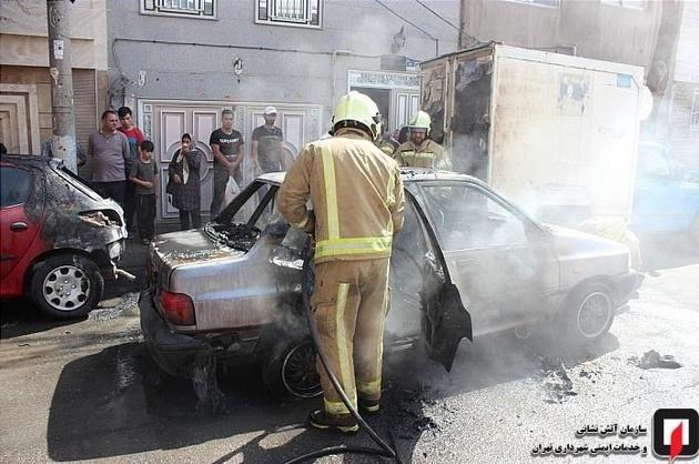 حریق خودرو در شهرری