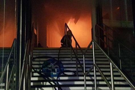 ایستگاه قطار ناتینگهام انگلیس طعمه آتش شد