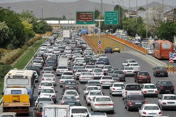 ترافیک صبحگاهی پرحجم اما روان در اکثر محورهای درون شهری