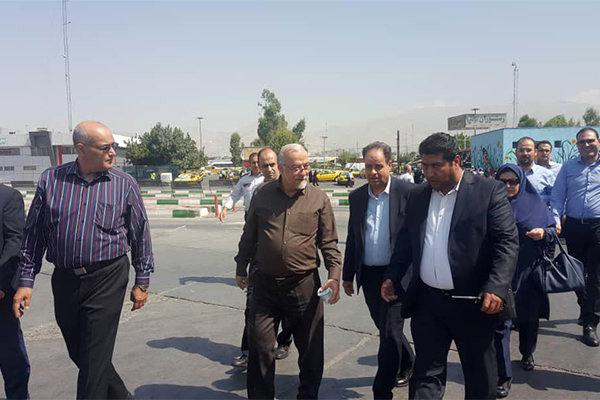 بازدید معاون وزیر راه از پایانه غرب تهران