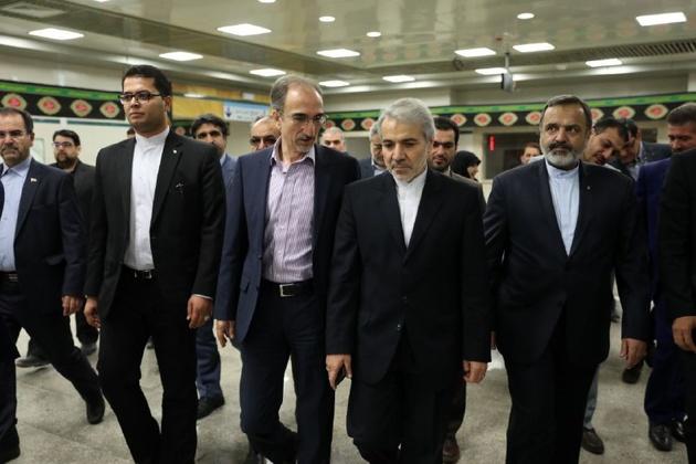 بازدید نوبخت از خط دوم قطارشهری مشهد
