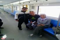 اولین مسافران خارجی مترو فرودگاه امام(ره)