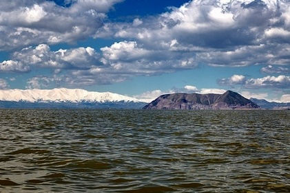 زیبایی مسحورکننده این روزهای دریاچه ارومیه