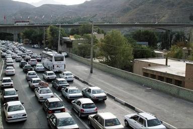 ترافیک در آزادراه کرج-تهران