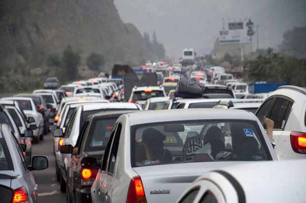 ترافیک نیمه سنگین در محور شهریار-تهران