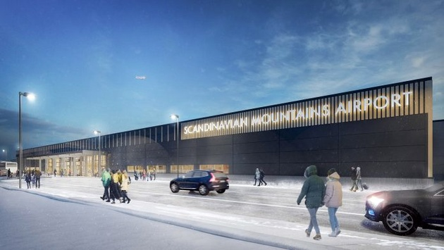 New airport in Swedish mountains: first SAS flight today