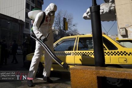 ضد عفونی و پاکسازی معابر شهری
