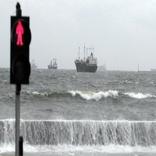 طوفان دریایی در سواحل خلیجفارس