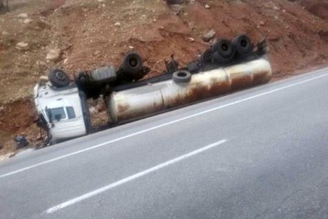 سیزدهمین واژگونی تانکر سوخت در پلدختر