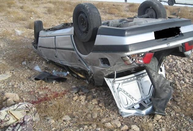 واژگونی خودرو حامل افاغنه در کرمان دو کشته و ۱۰ مصدوم برجا گذاشت