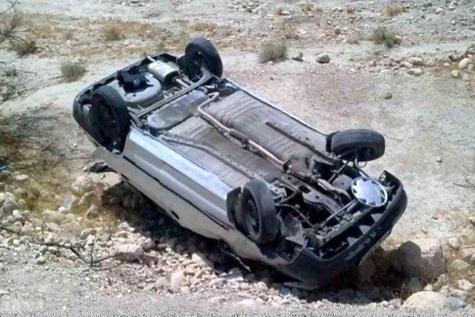 واژگونی پراید با ۱ کشته و ۲ مصدوم