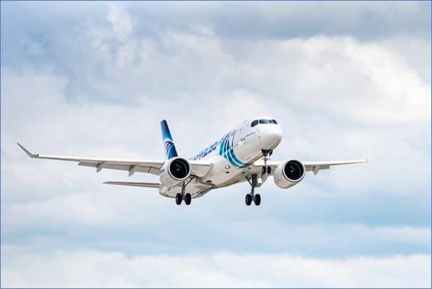 First EgyptAir Airbus A220-300 makes maiden flight