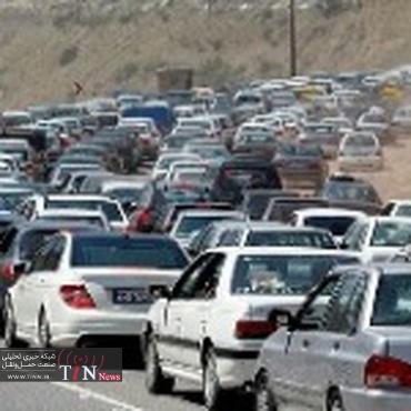 ترافیک در آزاد راه کرج - قزوین سنگین است