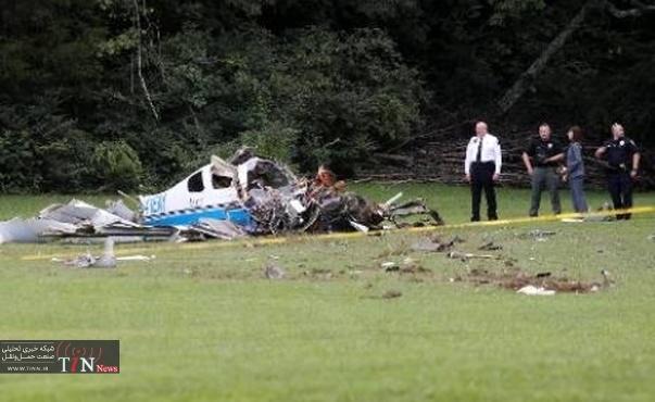 سقوط یک فروند هواپیمای سبک در ایالت تنسی آمریکا