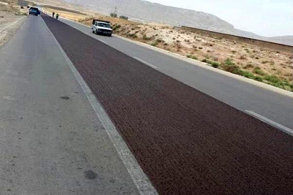اجرای طرح بهسازی آسفالت جاده های فارس