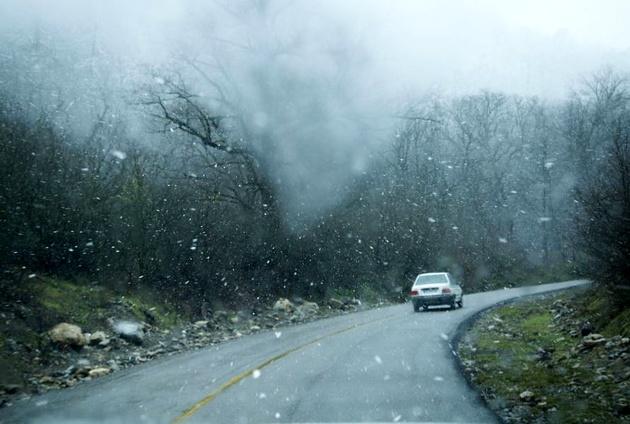 کدام استانها برف و باران می بارد؟