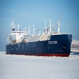 The first ship that sailed through Arctic in winter