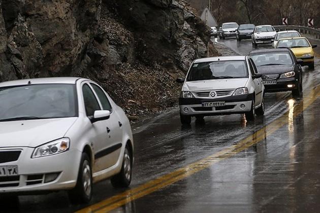 جادههای اصفهان بارانی است