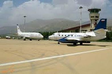 جانمایی حدود فرودگاه همدان