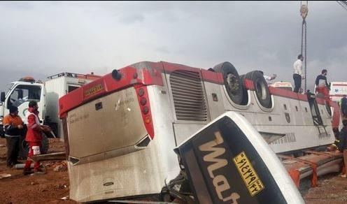 ۲ کشته و ۱۸ مصدوم در یک حادثه تصادف +اسامی مصدومان